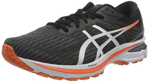 Asics GT-2000 9, Road Running Shoe Hombre, Black/White, 42 EU