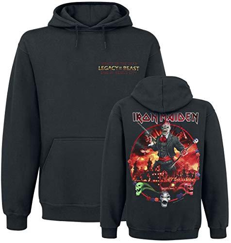 Iron Maiden LOTB Live Album Hombre Sudadera con Capucha Negro M