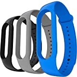AWINNER Bands Compatible with Xiaomi Mi Band 5 Smartwatch Wristbands Replacement Band Accessaries Straps Bracelets for Mi5 (Black,Gray,Blue)