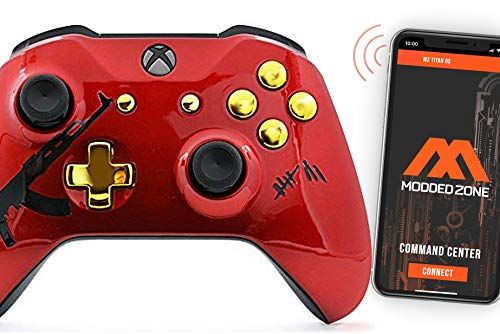 AK-47 Smart Rapid Fire Custom Modded Controller for Xbox One S Mods FPS Games and More. Control and Simply Adjust Your mods via Your Phone!