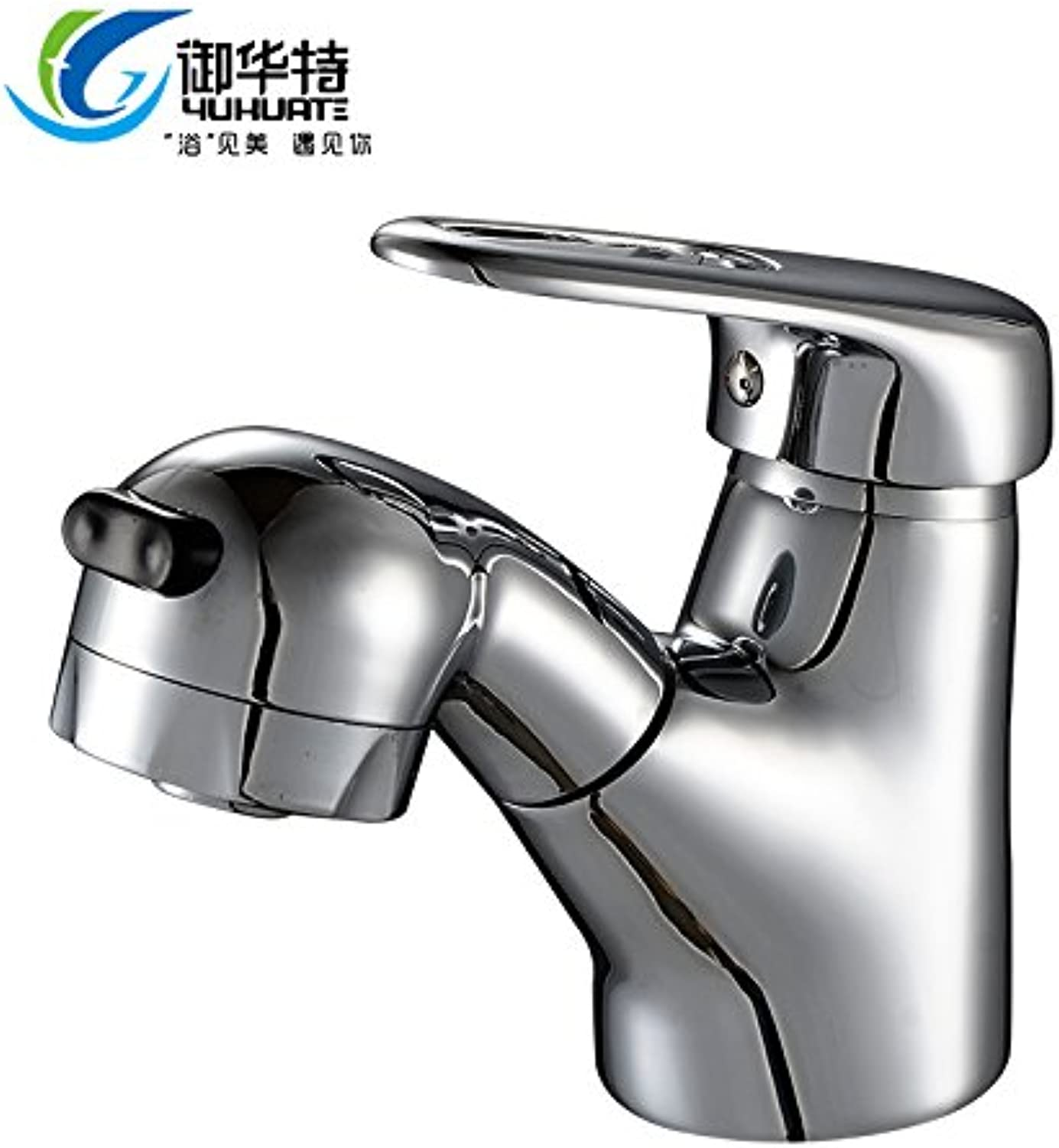 Hlluya Professional Sink Mixer Tap Kitchen Faucet Wash Basin mixer pull faucet shampoo handheld hot and cold brass taps, basin pull-down