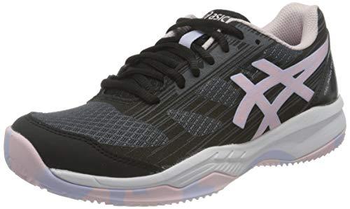 Asics Gel-Padel Exclusive 6, Indoor Court Shoe Mujer, Black/Pink Salt, 37.5 EU