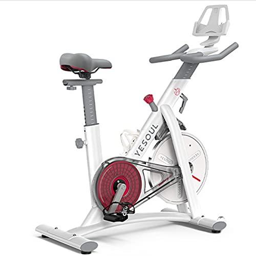 Spinning Bike Bicicleta De Ejercicio Interior, Gimnasio para El Hogar Ejercicio Aeróbico Bicicleta De Hilado, Ejercicio Estacionario Resistencia Al Control Magnético De La Bicicleta (Color : White)