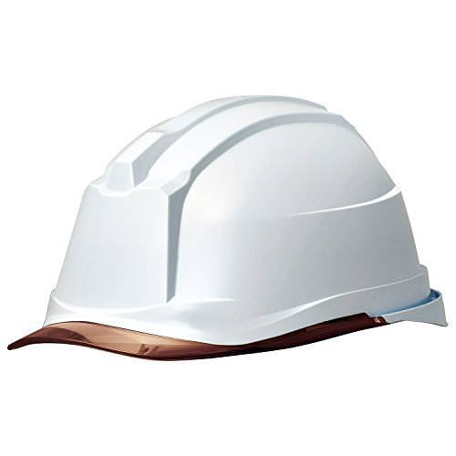 ミドリ安全 ヘルメット クリアバイザー SC-19PCL RA3 α ホワイト ブラウン