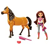 Spirit Untamed Ride Together Lucky Doll (7-in) & Spirit Horse (8-in), Horse Mount Feature, Doll Rides Horse with Realistic Walking & Moving Joints, for Ages 3 Years Old & Up