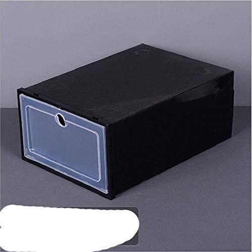 Caja de almacenamiento de zapatos de Clamshell Caja de almacenamiento de zapatos transparentes tipo cajón de almacenamiento para el hogar Gabinete de zapatos espesado - Como se muestra en
