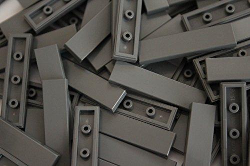 LEGO Bricks: Dunkel Grau 1x 4Fliesen. Teil 2431(X 25)