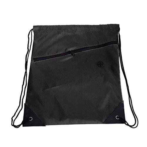 CDKJ Universal-Rucksack mit Kordelzug für Schulranzen und Sportarten mit Reißverschluss