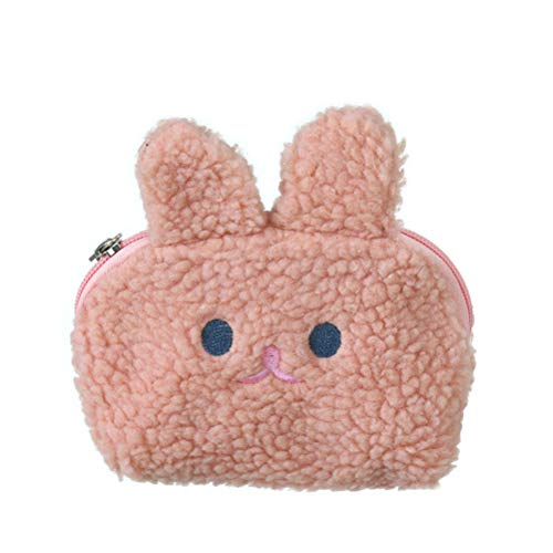 Mowtom Püsch portemonnee 3D konijn munttas tas voor kinderen muntkoffer koptelefoon datakabel cadeau voor meisjes