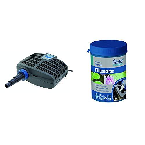 Oase AquaMax Eco Classic 5500 Filter- und Bachlaufpumpe & AquaActiv BioKick 200 ml Wasseraufbereiter, Silber