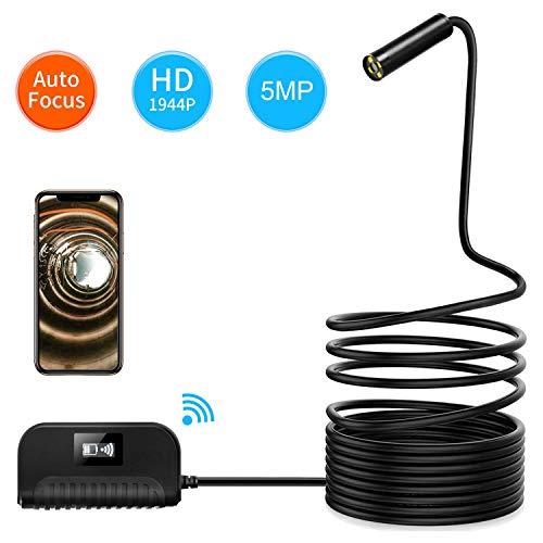 Endoscopio WIFI Movil Endoscopio Android e iPhone iOS Enfoque Automático de 5MP...