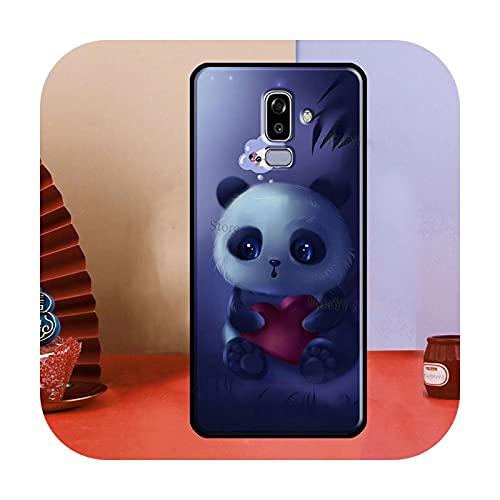 Cute Cartoon Panda para Samsung Galaxy A3 A5 J1 J3 J5 J7 2016 2017 J4 J6 A6 A8 Plus A7 A9 J8 2018 Funda para teléfono CC476-A9 2018