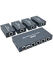 PW-HT226P4 1X4 1080P HDMIエクステンダースプリッター伝送165フィート(50m)By Cat5e