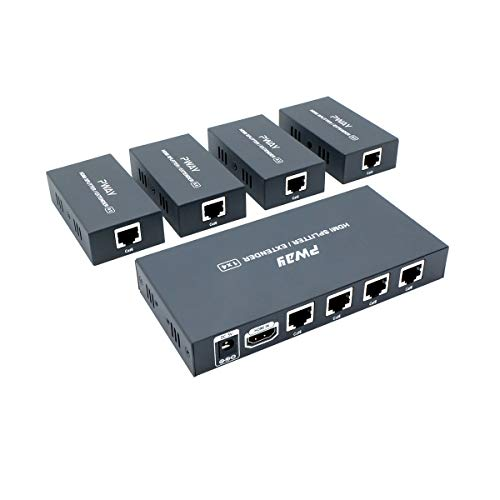PW-HT226P4(POC) 1X4 Port HDMI Extender Splitter Verteiler Ultra HD 1080P Ohne Verzögerung 165ft(50m) über CAT5/5e/6/7 Kable Unterstüt
