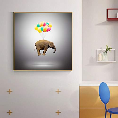 Olieverf canvas achtergrond muur opknoping Afrika Olifant Animal Abstract forati Geschikt voor woonkamer in galerij kamer met loopbrug (45x60 cm Geen Frame)