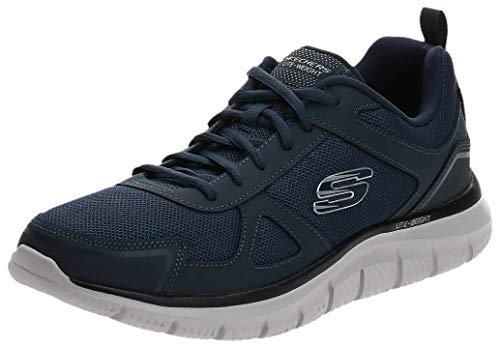 Skechers Herren Track-Scloric Sneaker, Blau (Navy 52631-Nvy), 44 EU