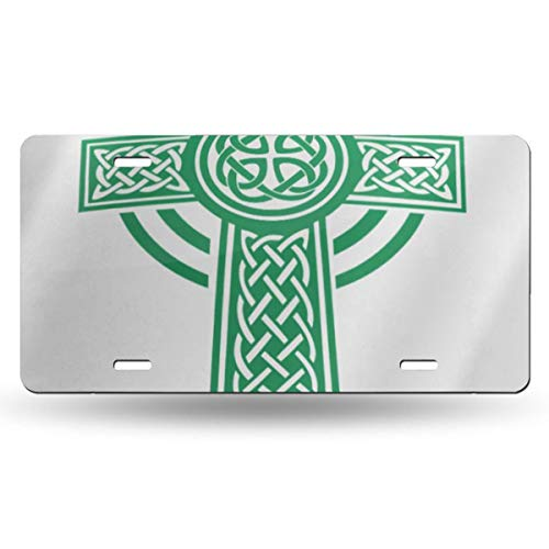 others SZxiaoyang Aluminum Metal License Plate ,Fashion Decorative Car Tag for Women Girls Men Boys License Plates Irish Green Celtic Details Shamrock Beer Celebration Clover