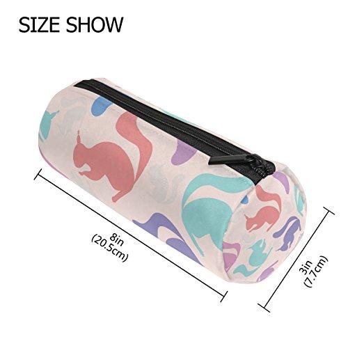 tizorax Colorful Eichhörnchen Bleistift Fall Pen Tasche mit Reißverschluss Münze Organizer Make-up costmetic Tasche für Frauen Mädchen Jungen Teenager Kinder