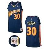 Mitchell & Ness Navy NBA Golden State Warriors Stephen Curry 2009 Road Swingman Jersey (Navy, XL)