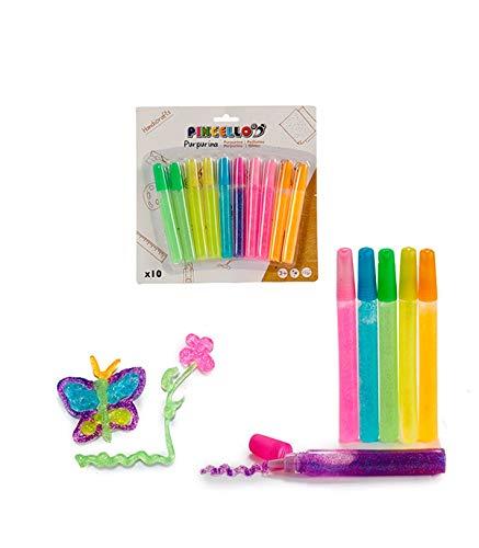 Pincello Juego 10 Tubos Purpurina De Colores 11 Gramos