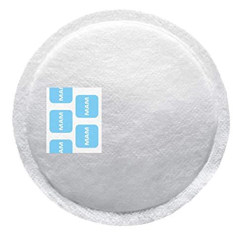 MAM Discos de Lactancia E103 Absorbentes Extra Finos y Discretos, Cubre Pezones Suaves, Transpirables y Supeabsorbentes, Desde 0 Meses, Blanco, 30 ud