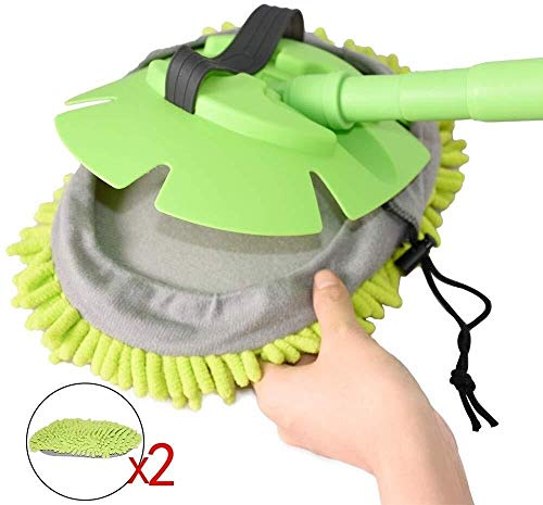 Car Wash Mop Mitt Long Handle Microfiber Brush Duster Niet Hurt Paint Extension Pole Scratch Gratis Schoonmaak Tool Dust Collector Supplies