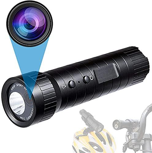 Sportkamera Motorrad Videokamera, Full HD 1080 P wasserdichte Mini Sport DV Kamera Fahrrad Motorrad Helm Action DVR Video Cam Perfekt für Outdoor-Sportarten