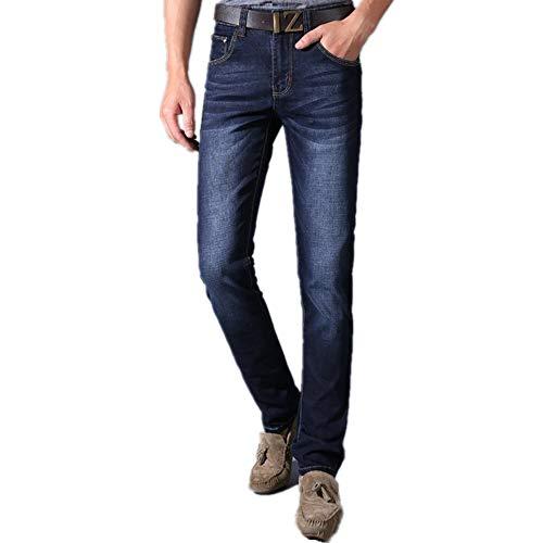 NOBRAND - Pantalones vaqueros elásticos para hombre de gama alta, versátiles, talla grande