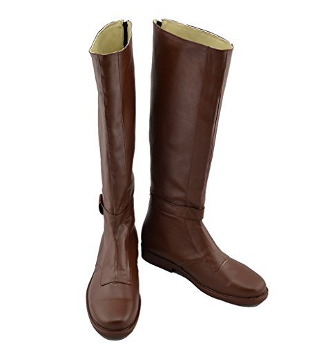 Telacos OBI Wan Cosplay Kenobi Costume Shoes Brown Boots Custom Made