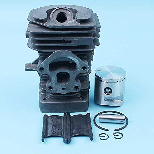 HaoYueDa Kit de pistón de Cilindro de diámetro Grande de 39 mm Compatible con Motosierra Husqvarna 235236240 E Jonsered CS2234 CS2234S 545050418/417