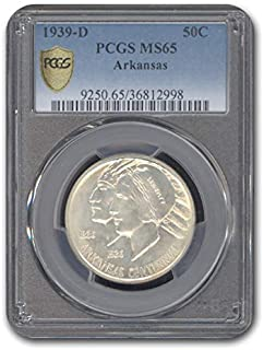 1939 D Arkansas Centennial Half Dollar MS-65 PCGS Half Dollar MS-65 PCGS