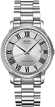 Mido Baroncelli III Automatic Silver Dial Watch (M0104081103309)