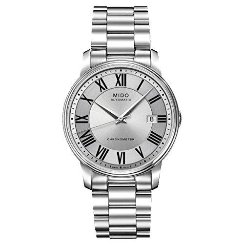 MIDO–XL Baron Botticelli–Reloj de Pulsera analógico automático para Hombre Acero Inoxidable m0104081103309