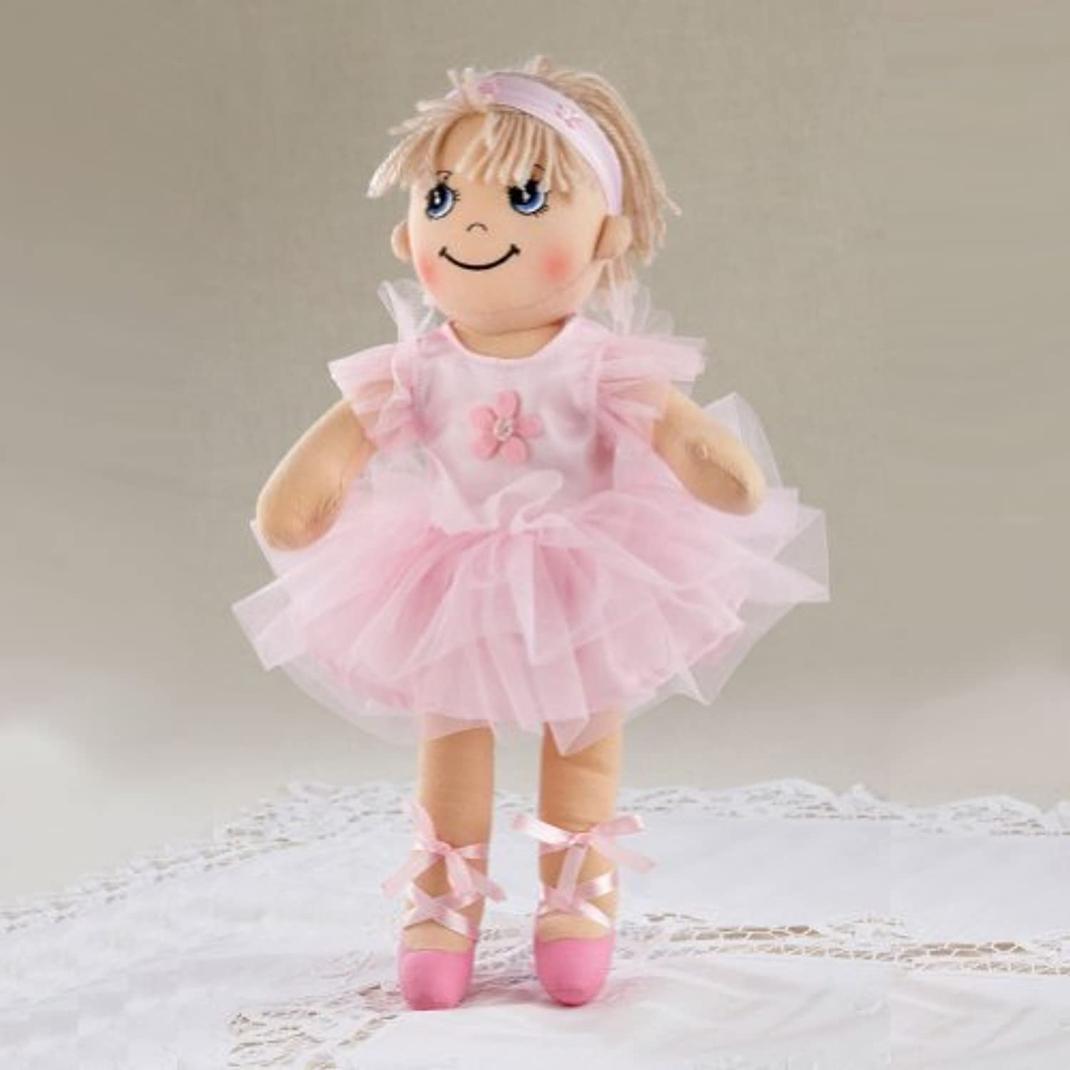 Delton Products Yarn Hair Ballerina Soft Cloth Doll with Removeable Clothes, 14 by Delton