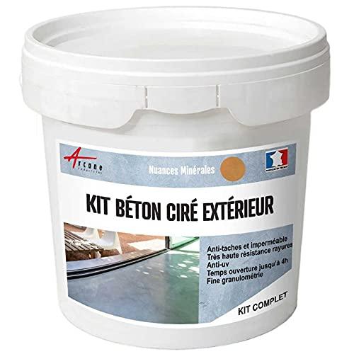 Complete set – Béton Ciré Extérieur – werkblad – fijn schoonmaak/kijkbeton. kit 10 m2 Cedrat - Jaune
