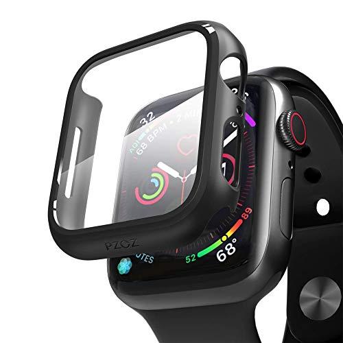PZOZ Kompatibel mit Apple Watch Series 6/SE/5/4 Hülle mit PET Displayschutz, iWatch Sehr stark PC Schutzhülle, All-Around Schutz Case für Apple Watch Series 6/SE/5/4 40mm(Schwarz)