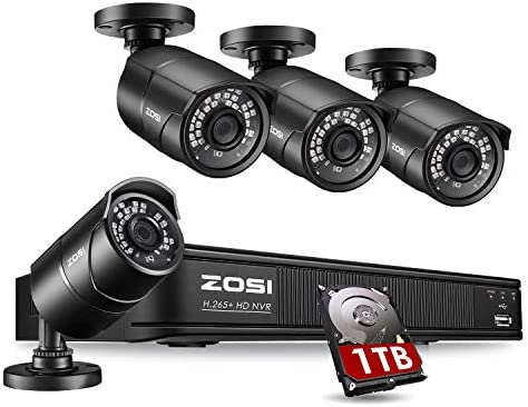 ZOSI 1080p H 265 PoE Home Security Camera System Outdoor Indoor 8CH 5MP PoE NVR Recorder and product image