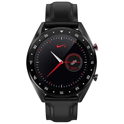 CWGWNXGY Ecg Ppg Smart Horloge Met Machine Ecg Display Hartslagmeter Bloeddruk Dames Slimme Armband, A, Zwart leder