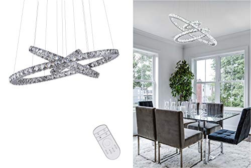 KAI Crystal Chandelier Island Pendant Light Dimmable with...