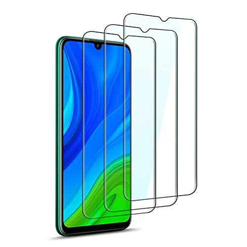 QHOHQ Protection écran pour Huawei P Smart 2020, [Lot de 3] Film Verre Trempé, 9H Dureté - sans Bulles - Anti-Rayures - Anti-Empreintes Digitales