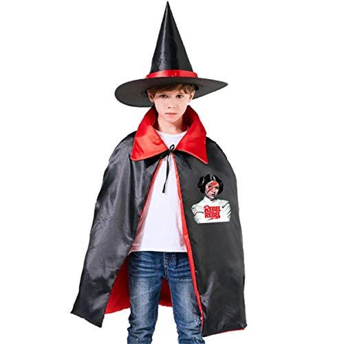 NUJSHF Cosplay-Kostüm, Prinzessin Leia Rebel, Unisex, für Kinder, mit Kapuze, Umhang für Halloween, Party, Dekoration, Rolle, Cosplay, Outwear