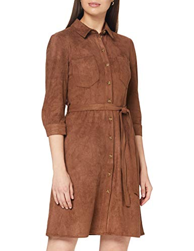 ESPRIT Damen 080EE1E326 Kleid, 210/BROWN, 40