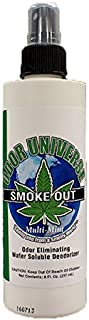 Odor Universe Smoke Out Smoke Smell Remover Removes Smell of Cigars Cigarettes Marijuana and Other Smoke and Organic Smells Including Spoiled Milk and Other Car and Home Smells 8 oz. Bottle