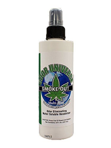 Odor Universe Smoke Out Smoke Smell Remover Removes Smell of Cigars Cigarettes Pot Smelland other Smoke and Organic Smells Including Spoiled Milk and Other Car and Home Smells 8 oz. Bottle