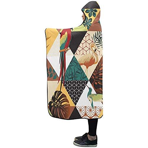 Henry Anthony Mit Kapuze Decke Papagei Tukane Kolibri Decke 50 x 40 Zoll Comfotable mit Kapuze Throw Wrap