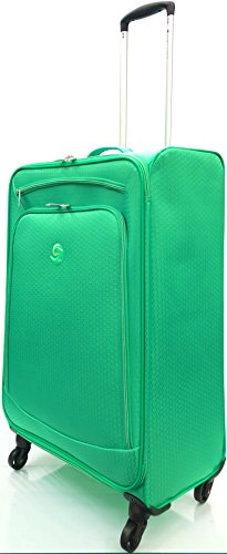 "28""/74cm Large Ultra Super Lightweight Durable Hold Luggage Suitcases Travel Bags Trolley Case Hold Check in Luggage with 4 Wheels, Weighs only 2.64KG (28"" Large, Green)"