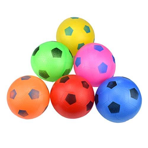 Toyvian Mini Aufblasbarer Fußball Strandball Spielball Sommer Pool Ball für Kinder Outdoor Strand Spielzeug 6 Stücke (Zufällige Farbe)