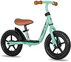 "JOYSTAR 10 Inch Kids Balance Bike with Footrest for Child Girls 10"" Glider Slider Bikes No Pedal Bicycle Training Bikes for 18 Months 2 3 4 Years Children Birthday Gifts Green"