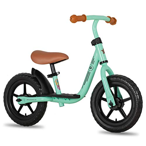 JOYSTAR 10 inch Balance Bike with Footrest for Child, Girls Glider Slider Bike, No Pedal Bicycle for 1 2 3 Years Children, Birthday Gifts Toy, Green
