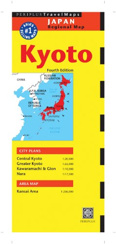 Kyoto Travel Map Fourth Edition (Periplus Travel Maps) [Idioma Inglés]